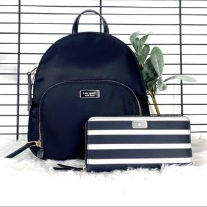 Kate Spade Medium Backpack and Large Wallet